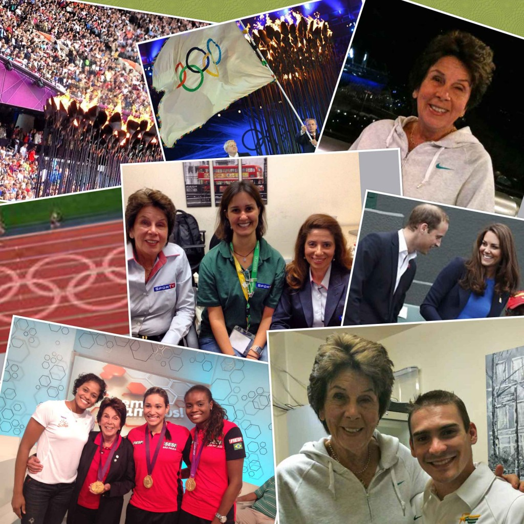 Maria Bueno was on the TV Globo team for London 2012 and met several Brazilian medallists.