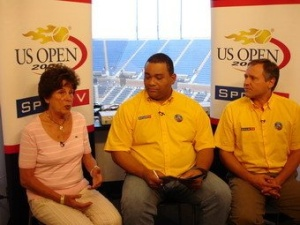 Maria with Eusebio and Dacio at the US Open