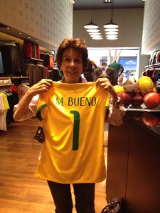 Number one - Maria Bueno, Brasil's newest football recruit
