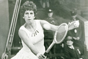 Maria Bueno wins Wimbledon for the third time in 1964