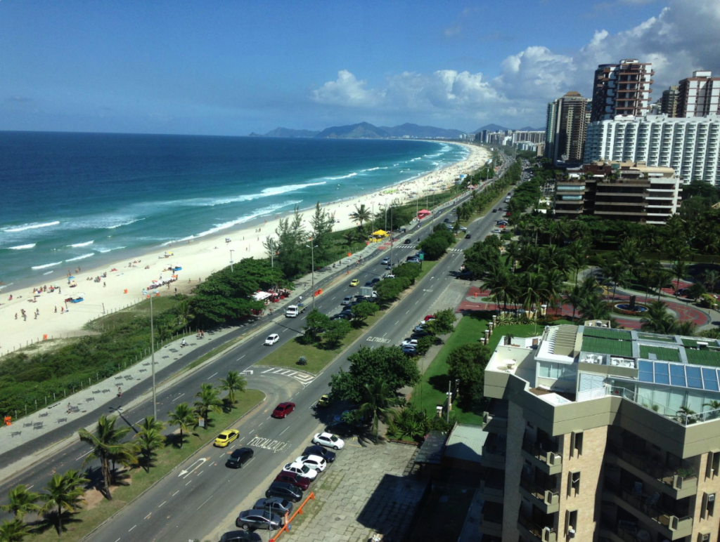 The spectacular view from the Windsor Bara Hotel in Rio de Janeiro