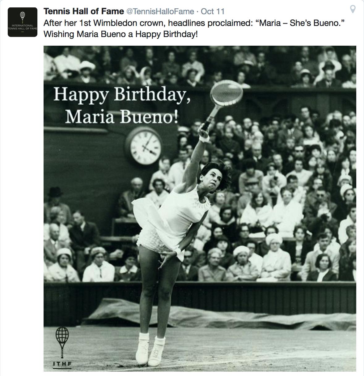 Happy Birthday Maria Bueno