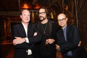 Benoit Faletti (General Manager Rolex Portugal), Host Dinho Diniz and Stephan Meili (Marketing & Sales Manager Brazil)