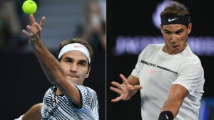 Roger Federer and Rafael Nadal (Getty Images)