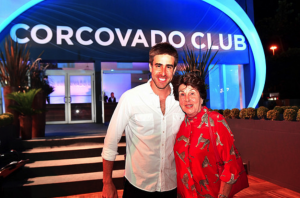 Rio Open Tournament Director Luis Carvalho and Maria Esther Bueno