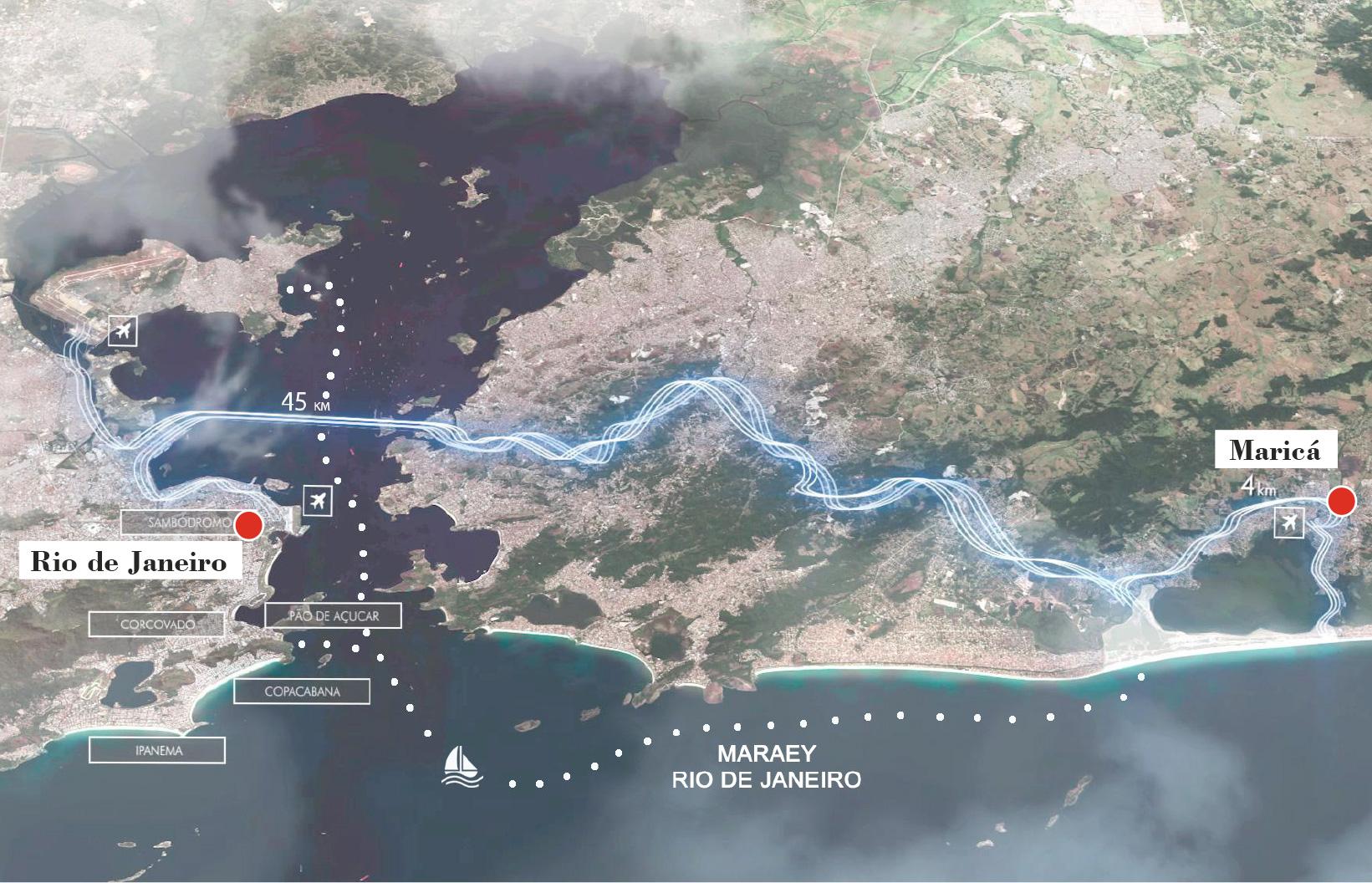 Proximity of MARAEY project to Rio de Janeiro